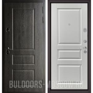 Входная дверь Бульдорс STANDART-90 Дуб графит 9SD-2/Дуб белый матовый 9SD-2