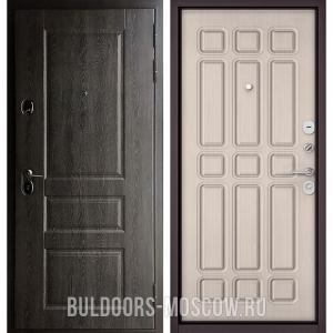 Входная дверь Бульдорс STANDART-90 Дуб графит 9SD-2/Ларче бьянко 9S-111