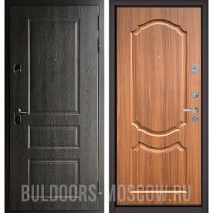 Входная дверь Бульдорс STANDART-90 Дуб графит 9SD-2/Орех лесной 9SD-4