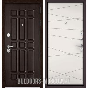 Входная дверь Бульдорс STANDART-90 Дуб Шоколад 9S-111/Белый софт 9S-130