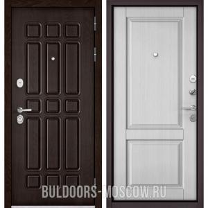 Входная дверь Бульдорс STANDART-90 Дуб Шоколад 9S-111/Дуб белый матовый 9SD-1