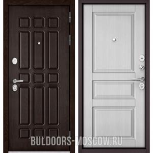 Входная дверь Бульдорс STANDART-90 Дуб Шоколад 9S-111/Дуб белый матовый 9SD-2