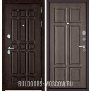 Входная дверь Бульдорс STANDART-90 Дуб Шоколад 9S-111/Дуб шале серебро 9S-109