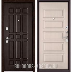 Входная дверь Бульдорс STANDART-90 Дуб Шоколад 9S-111/Дуб светлый матовый 9S-108