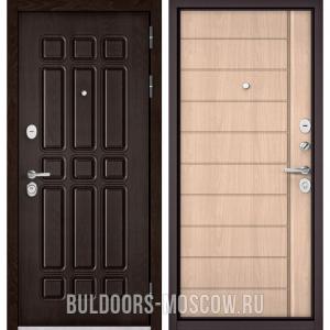 Входная дверь Бульдорс STANDART-90 Дуб Шоколад 9S-111/Ясень ривьера крем 9S-136