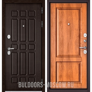 Входная дверь Бульдорс STANDART-90 Дуб Шоколад 9S-111/Карамель 9SD-1