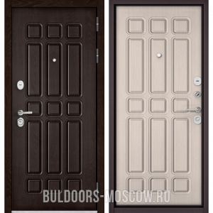 Входная дверь Бульдорс STANDART-90 Дуб Шоколад 9S-111/Ларче бьянко 9S-111