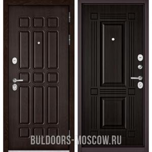 Входная дверь Бульдорс STANDART-90 Дуб Шоколад 9S-111/Ларче темный 9S-104