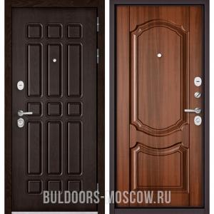 Входная дверь Бульдорс STANDART-90 Дуб Шоколад 9S-111/Орех лесной 9SD-4