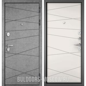 Входная дверь Бульдорс STANDART-90 Штукатурка серая 9S-130/Белый софт 9S-130