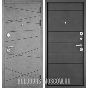 Входная дверь Бульдорс STANDART-90 Штукатурка серая 9S-130/Бетон темный 9S-135