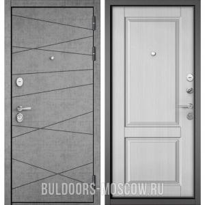 Входная дверь Бульдорс STANDART-90 Штукатурка серая 9S-130/Дуб белый матовый 9SD-1