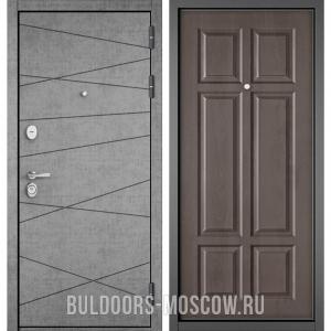 Входная дверь Бульдорс STANDART-90 Штукатурка серая 9S-130/Дуб шале серебро 9S-109