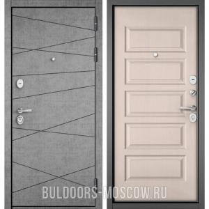 Входная дверь Бульдорс STANDART-90 Штукатурка серая 9S-130/Дуб светлый матовый 9S-108