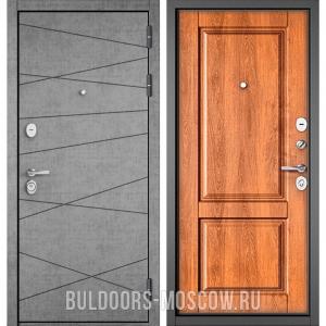 Входная дверь Бульдорс STANDART-90 Штукатурка серая 9S-130/Карамель 9SD-1