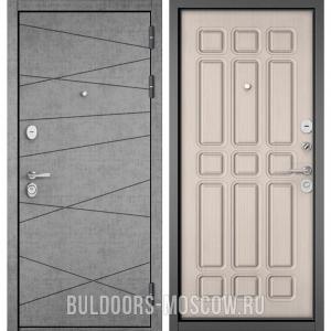 Входная дверь Бульдорс STANDART-90 Штукатурка серая 9S-130/Ларче бьянко 9S-111