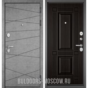 Входная дверь Бульдорс STANDART-90 Штукатурка серая 9S-130/Ларче темный 9S-104