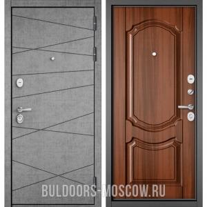 Входная дверь Бульдорс STANDART-90 Штукатурка серая 9S-130/Орех лесной 9SD-4