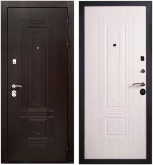 Входная дверь Гранит Т2 Люкс беленый клен