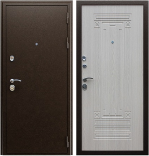 Входная дверь АСД  Триумф New Беленый дуб