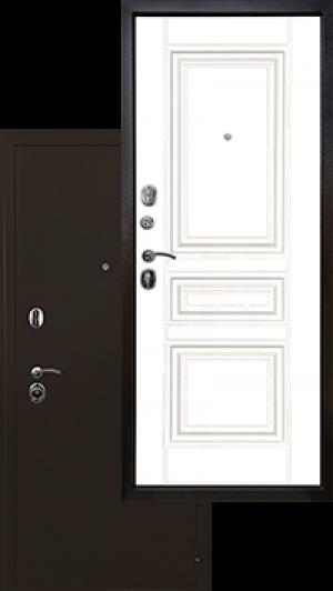 Входная дверь Ратибор Троя 3К Белый Матовый