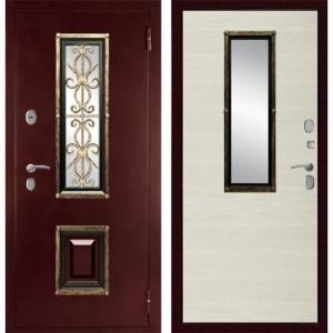 Входная дверь Дива  К-04 (Антик медный / Клён канадский светлый)