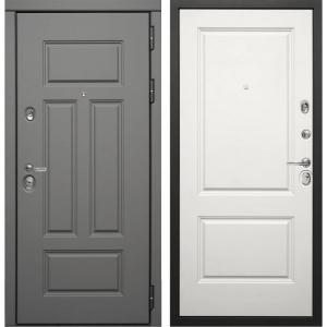 Входная дверь Дива МД-47 (Ясень графит / Белый матовый)