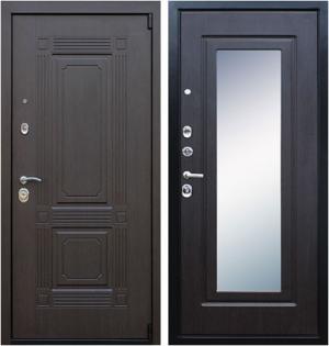 Входная дверь АСД  Викинг (с зеркалом) Венге